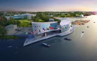 月塘湖国际F1摩托艇赛区规划设计